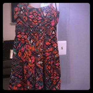 Multicolored cut out dress
